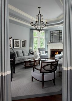 Grey Blue Living Rooms Design, Pictures, Remodel, Decor and Ideas - page 2