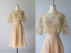 Gorgeous!!!!!!!!!!!!!!!   1960s Dress / 60s Dress / Chiffon Dress / by TheVintageMistress, $158.00