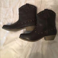 Studded Boots Size 7, worn twice. Slight heel. Rampage Shoes Heeled Boots