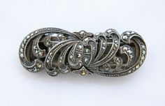 Vintage Sterling Silver Art Deco Duette Marcasite Dress Scarf Clip Coat Sweater Brooch Pin by DecoOwl on Etsy