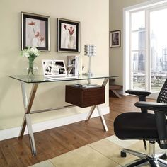 $287.50 Modway Stasis Office Desk Outfitted with a tempered glass top, Stasis encourages you to hold onto the thoughts that matter and free your mind from distraction.  Set Includes: One - Stasis Office Desk