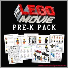 I am seriously so excited about this Pre-K Pack!  My boys, like most boys, are obsessed with Legos!  So, when the Lego Movie came out it was a big deal for the Dana family!  I was be...