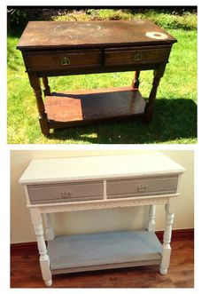 Before and After Vintage Side Table Everything Has A Story - Vintage & Upcycled