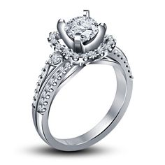 White Gold Gp 925 Silver Women's Diamond Disney Princess Ring 1 day Shapping  #SolitairewithAccentsWeddingEngagementRing