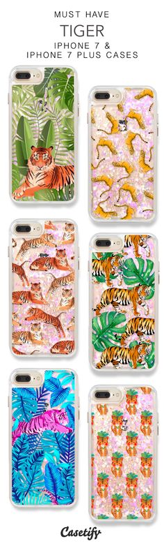 Must Have Tiger iPhone 7 Cases & iPhone 7 Plus Cases. More Protective Liquid Glitter Animal iPhone case here > https://www.casetify.com/en_US/collections/iphone-7-glitter-cases#/?vc=NftwWFHK2h