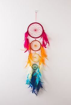 Rainbow Five Tier Dreamcatcher