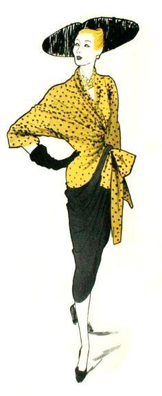 René Gruau - Couverture - International Textiles Magazine - 1946