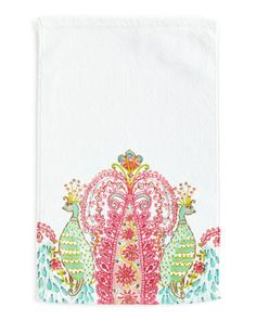 Peacock+Hand+Towel+by+Dena+Home+at+Horchow.