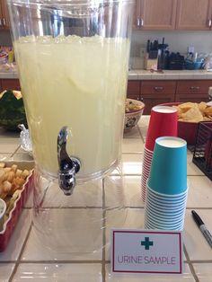 Medical Dr. / Nurse Graduation Party Ideas & Suggestions for 2014 -  Urine Sample Punch – Dr – Nursing Graduation Party