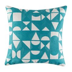 Chit Chat Cushion 50x50cm For Real Living  Blue
