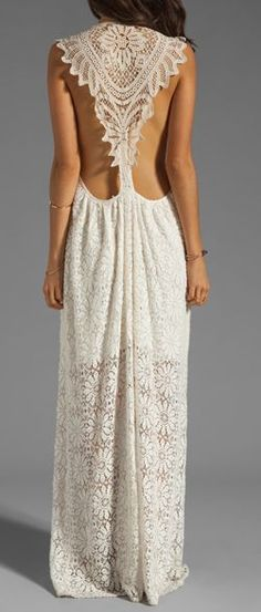 Lace back dress perfection