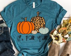 Etsy :: Your place to buy and sell all things handmade Thanksgiving Shirts For Women, Screen Printing Shirts, Thing 1, Thankful And Blessed, Crew Neck Shirt, Fall Shirts, Halloween Shirt, Fall Outfits, T Shirts For Women