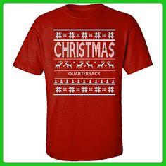 Christmas Quarterback Ugly Sweater - Adult Shirt 5xl Red - Holiday and seasonal shirts (*Amazon Partner-Link)
