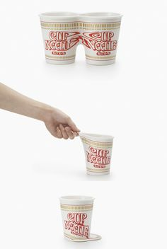 cupnoodle forms by Nendo - souvenir for the Nissin Cup Noodle Museum in Yokohama