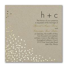 Confetti Toss - Invitation - Kraft. Available at Persnickety Invitation Studio.