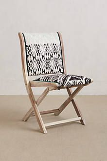 Terai Folding Chair - love the exotic bohemian vibe of this chair! Just the look I need to amp of the ethnic flavor of my home