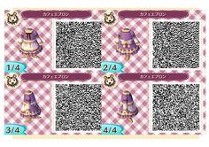 ACNL QR Code: Lavender Dress with Apron