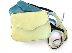 LIGHT GREEN Small Leather Bag