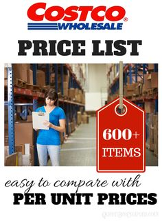 Wondering just how great of a deal some things are at Costco? This per unit list makes it easy to compare prices and value. Via Queen Bee Coupons
