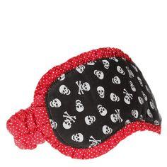Máscara de dormir caveirinha fashion preta