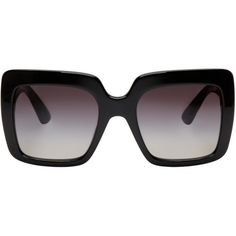 cb494fb1f6 Dolce and Gabbana Black Square Sunglasses (€245) ❤ liked on Polyvore  featuring accessories