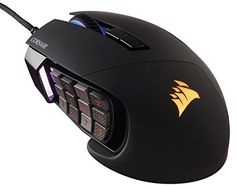 Corsair Gaming SCIMITAR RGB MOBA/MMO Gaming Mouse, Black (CH-9000231-NA) - The SCIMITAR RGB revolutionizes game play with its exclusive patent pending Key Slider control system. 8mm of key slide travel with secure lock puts every button within reach. The 12 mechanical side buttons are designed to pro player specifications, delivering ultra-consistent, tactile feedback,... - http://ehowsuperstore.com/bestbrandsales/video-games/corsair-gaming-scimitar-rgb-mobammo-gaming-mouse-b