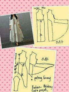 Similar to magic dress - Best Sewing Tips Sewing Hacks, Sewing Tutorials, Sewing Projects, Dress Sewing Patterns, Clothing Patterns, Linen Dress Pattern, Long Dress Patterns, Fashion Sewing, Diy Fashion