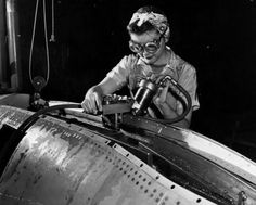 The Girls In AeroSpace: Vintage Photos of Rockin' Women Working On Planes 1943, at the Lockheed-Vega Aircraft Corporation