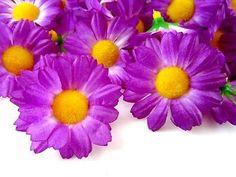 12 purple #gerbera daisy head #artificial silk #flower wedding bulk clip book 1.7,  View more on the LINK: http://www.zeppy.io/product/gb/2/252764287039/