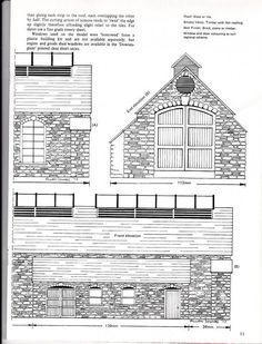 Railroad Building Plans | Railway & lineside buildings:Plans, dimensions, drawings - Card ...
