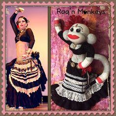 Flamenco Bellydance sock monkey (Devi Mamak)- created by Raq'n Monkeys - https://www.facebook.com/raqn.monkeys/