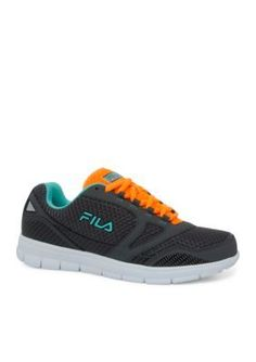 FILA USA Dark GrayOrangeTeal Direction Sneaker