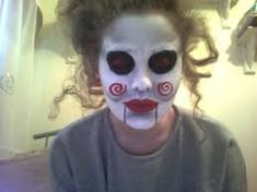 Image result for face paints for halloween Puppets, Pixie, Scary, Halloween Face Makeup, Paint Ideas, Zombies, Painting, Skulls, Image