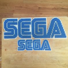 SEGA logo perler beads by thatperlernerd