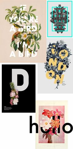 Poppy Journal: FLORAL TYPE