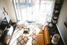A dizzying view from above in Erin Hiemstra's SF loft. Photo by Jasmine Gregory.