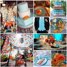 Orange and Carolina Blue Wedding Inspiration