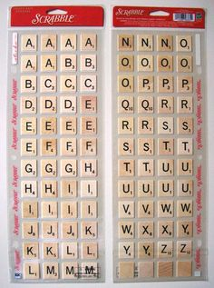 SCRABBLE Photo-Safe Letter / Tile Stickers for Scrapbook, Crafting Projects