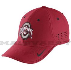 Nike College Dri - Fit Sideline Hat Ohio State Buckeyes Red 2015 #Nike #OhioStateBuckeyes