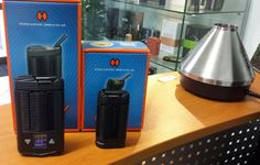 Small one and big one Vaporizers from Storz and Bickel!