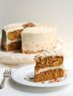 this one is for you, Irma! Carrot Cake with BROWN BUTTER CREAM CHEESE FROSTING. sounds delightful :)