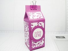Fold-Flat Tealights Tower Box & Funky Birthday Mini Binder Clips from Stampin' Up! - YouTube
