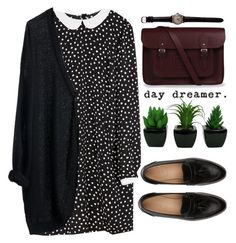 """""""Cause darling I'm a nightmare dressed like a daydream"""" by michellecoolio ❤ liked on Polyvore featuring Zara, MTWTFSS Weekday, The Cambridge Satchel Company and J.Crew"""