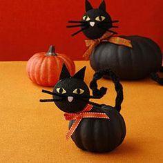 DIY Halloween: DIY Cat pumpkins