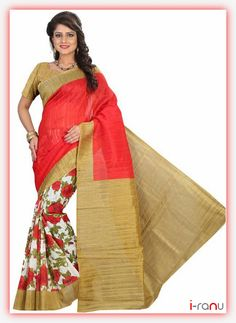 Printed Art Silk Sarees from Stf Store Art Silk Sarees, Georgette Sarees, Cotton Sarees Online Shopping, Indian Fashion, Womens Fashion, Pink Saree, Printed Sarees, Bollywood Fashion, Blouse