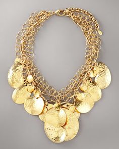 Hammered Disc Necklace by Jose & Maria Barrera at Bergdorf Goodman.
