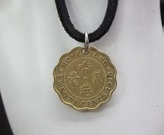 Hong Kong Coin Necklace 20 Cents Coin by AutumnWindsJewelry
