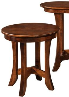 You'll save on every piece of furniture at Amish Outlet Store! We custom make every item, and you can get the Carona Round End Table in Oak with any wood and stain.