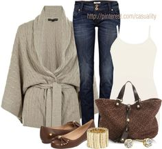 """""""Ralph Lauren Shawl Cardigan"""" by casuality ❤ liked on Polyvore"""
