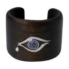 Evil Eye Cuff on Wood